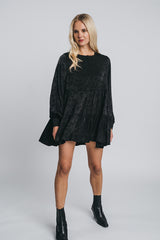NEVA mini bell dress in black
