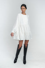 NEVA mini bell dress in white