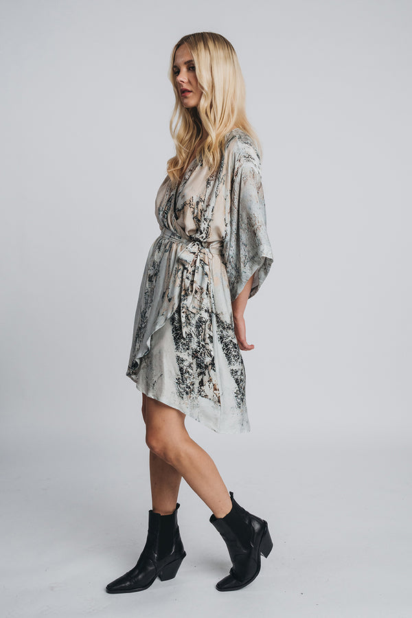REIDAR mini wrap dress