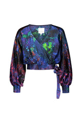 REIDAR wrap silk blouse