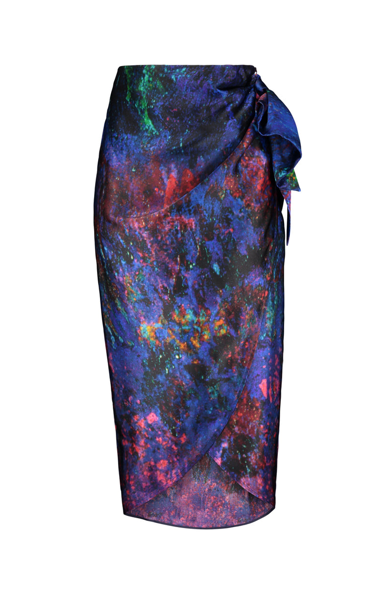 REIDAR wrap silk skirt