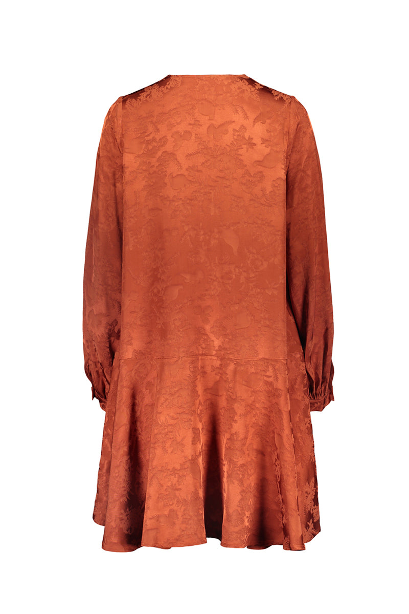 RUSKA bell dress in copper