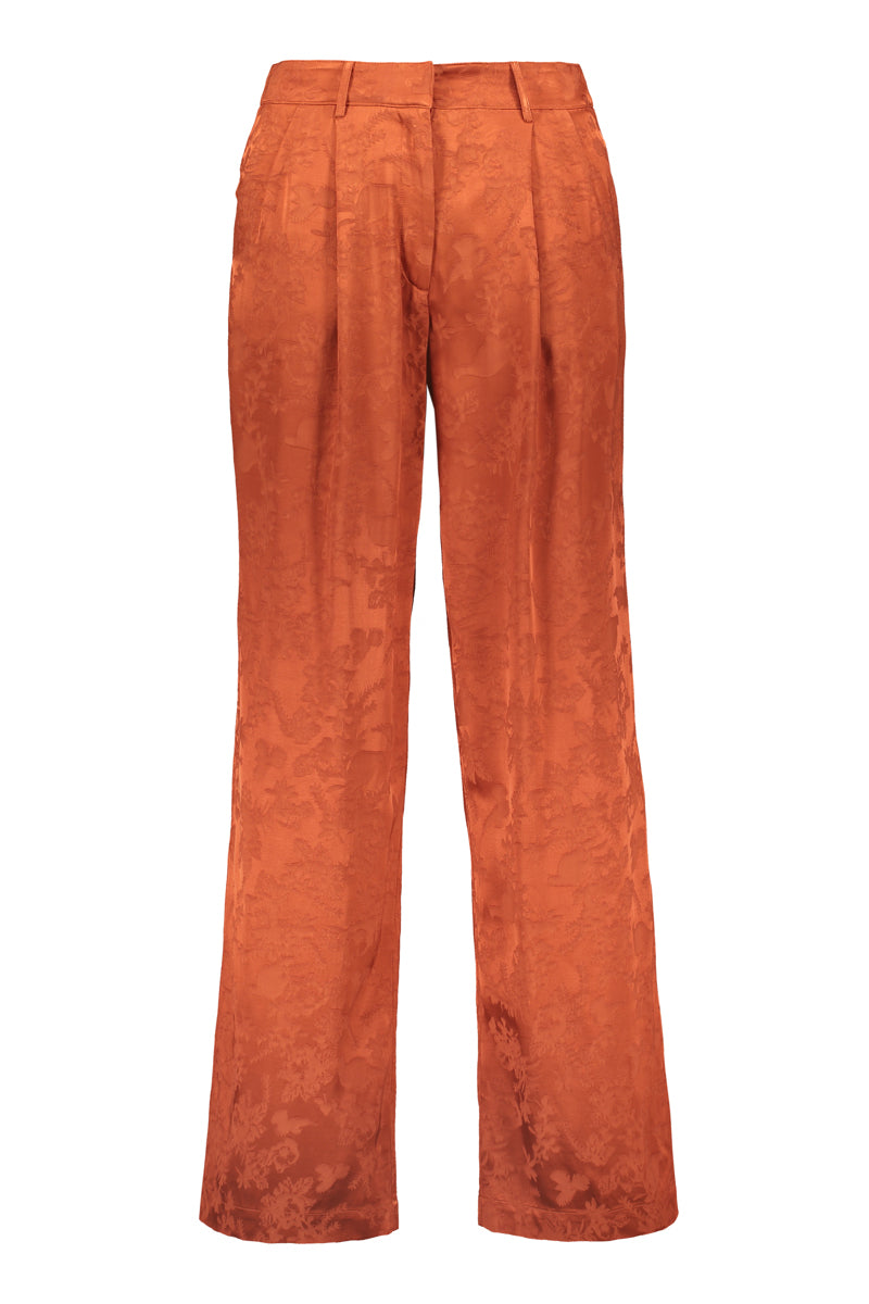 RUSKA wide pleat pants in copper