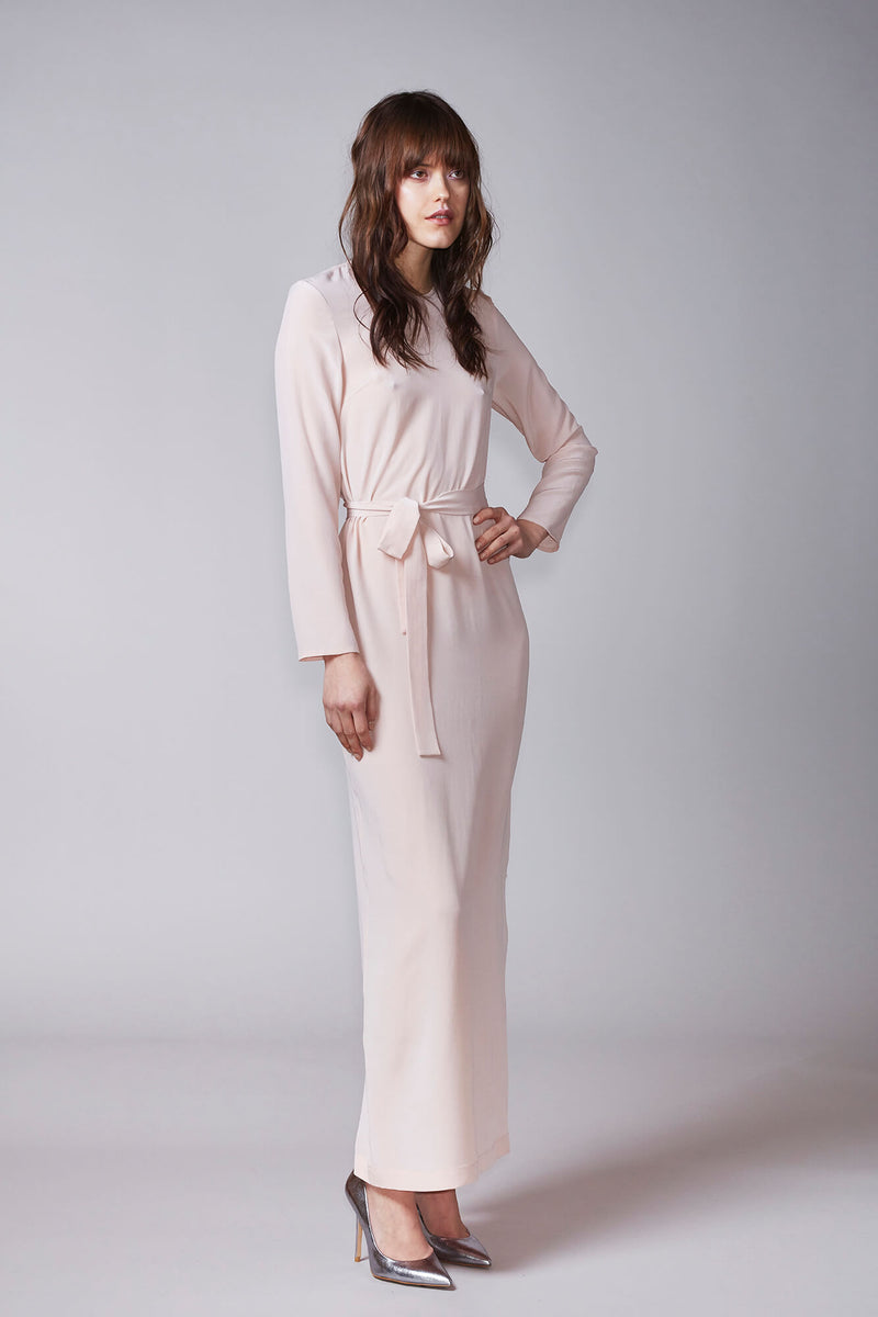 USVA maxi dress in powder