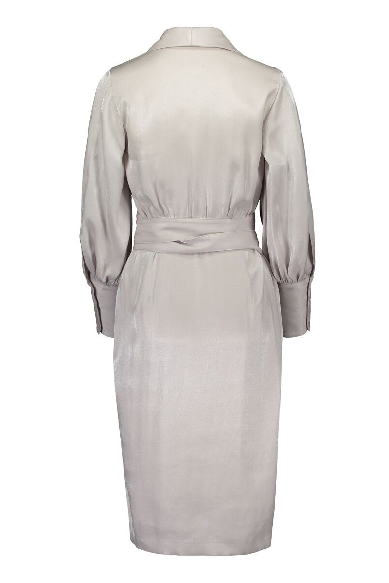 KAAMOS wrap dress in frost white