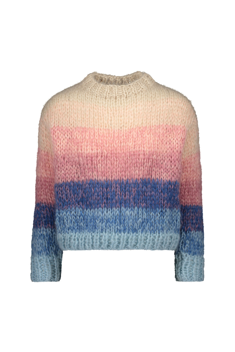 KAJO handknitted sweater in light ombré