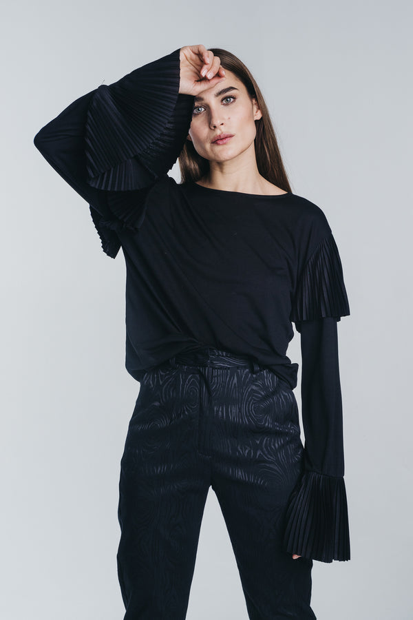 KAJO pleated blouse