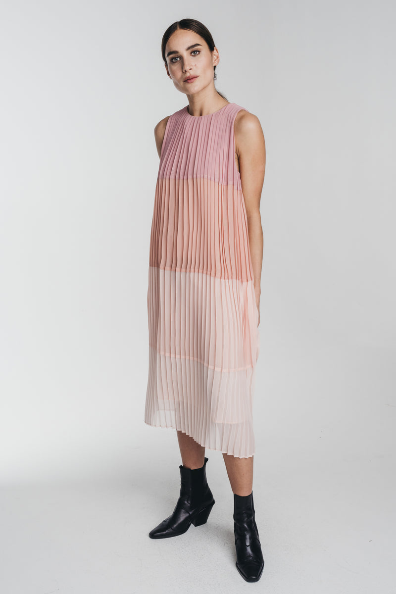 HALO_KAJO_PLEATED_MIDI_DRESS_SIDE