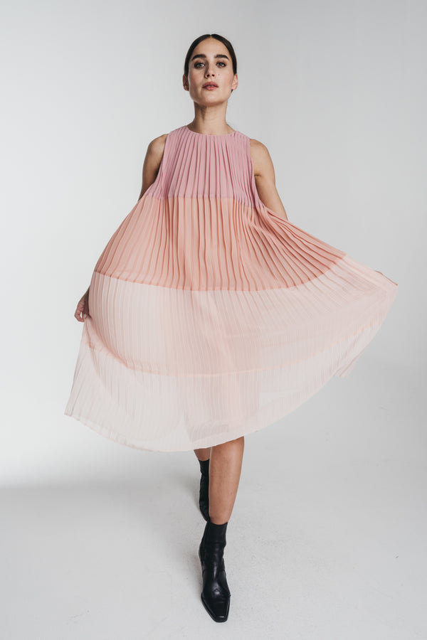 HALO_KAJO_PLEATED_MIDI_DRESS_FRONT