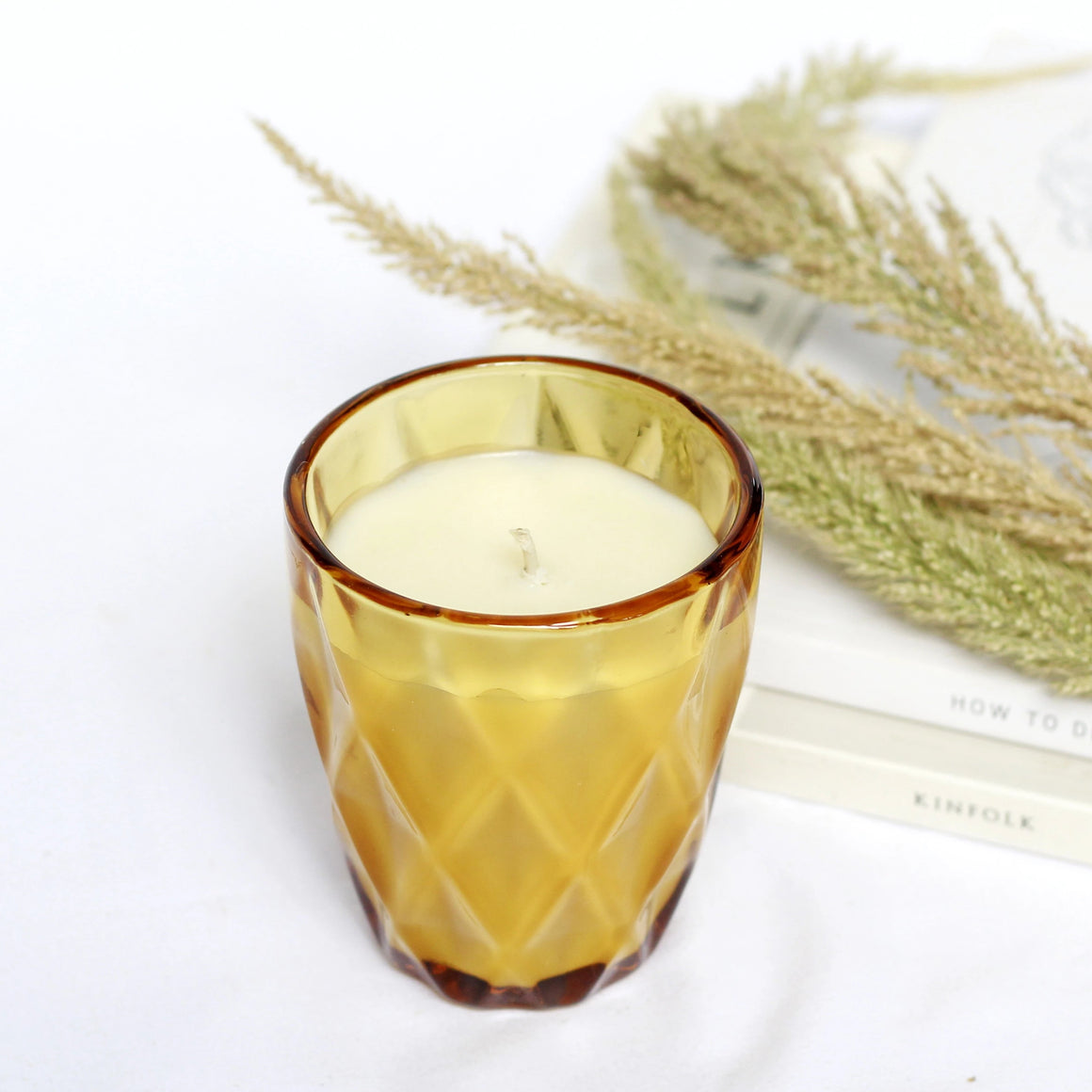 Soy Candle in Limited Edition Amber Glass: A Collab with A la Fourchette