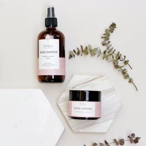 Rose Garden Room & Linen Spray and Soy Candle Bundle