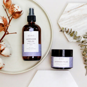 Lavender Fields Room & Linen Spray and Soy Candle Bundle
