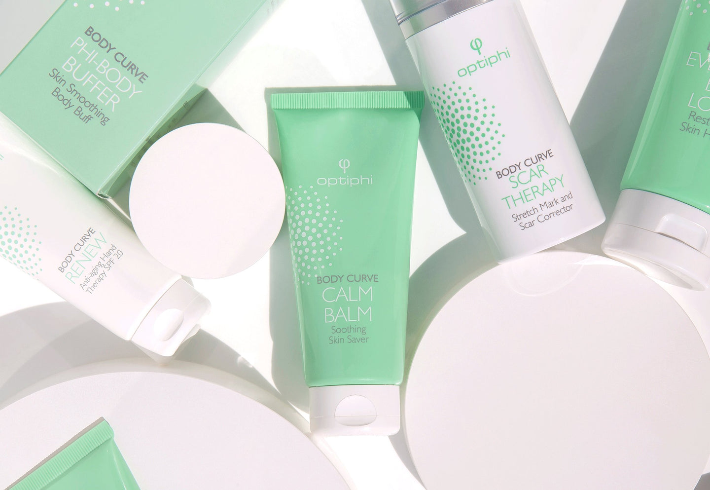 Advanced body products, addressing aging on the body, loss of skin density, tone, wrinkles, pigmentation and sun damage.