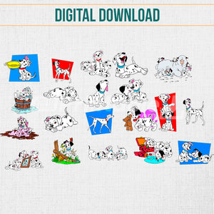 101 Dalmatians 20 Pack Vector Illustrations