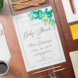 Elegant Greenery Baby Shower Invitation Template - Digital Download