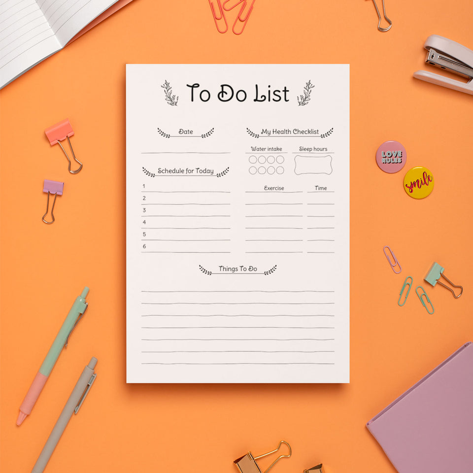 Daily To Do List Planner - Digital Instant Download