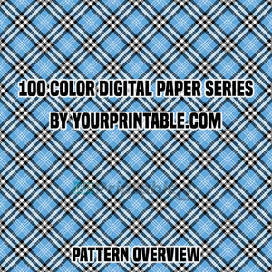 100 Digital Checkered Papers with Rainbow - Instant Download