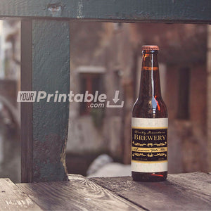 Printable Vintage Beer Bottle Labels Template - Digital Download