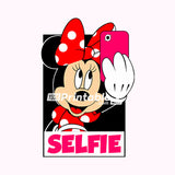 Selfie Minnie Mouse Illustration - Digital Download