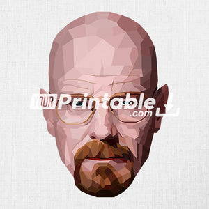 Walter White Geometric Illustration - Digital Download