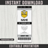 Volleyball Ticket Invitation Template - Birthday Party
