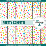 Confetti Digital Party Paper Printable - Digital Download