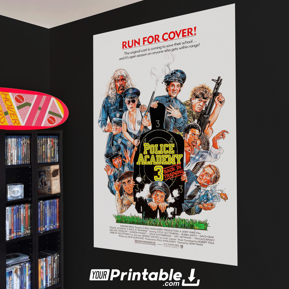 Police Academy 3 Movie Original Poster Wall Art