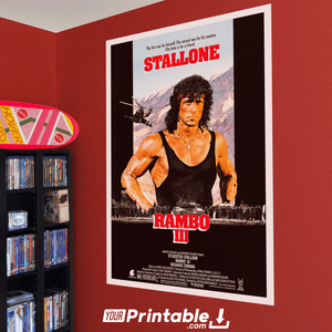 Rambo 3 Movie Original Poster Wall Art