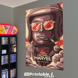 Captain Marvel Plane Pilot Original Movie Poster - Instant Download