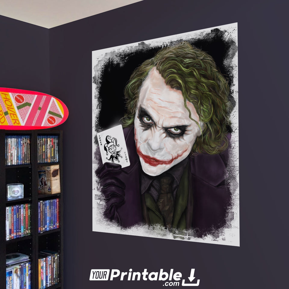Joker Movie Original Poster Wall Art - Instant Download