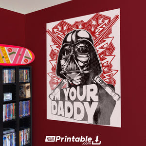 Darth Vader Movie Original Poster Wall Art - Instant Download