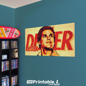 Dexter Morgan Movie Original Poster Wall Art - Instant Download
