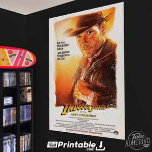 Indiana Jones and the Last Crusade Movie Original Poster Wall Art
