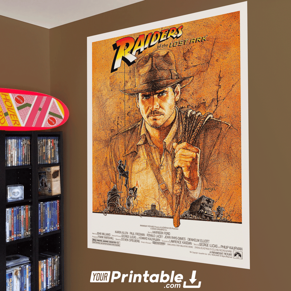 Raiders Of The Lost Ark Movie Original Poster Wall Art