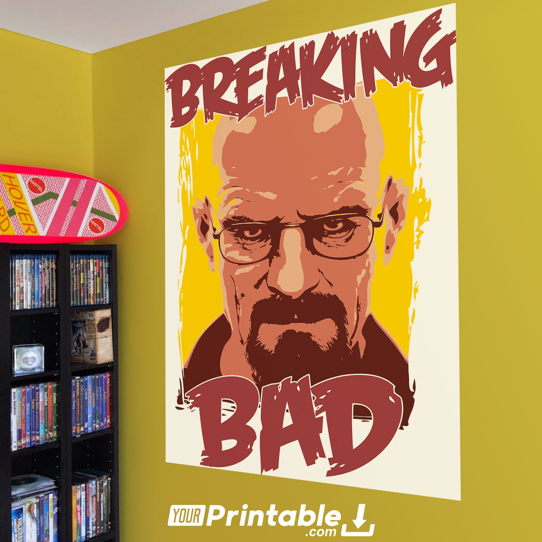 Breaking Bad Cartoon Movie Poster Wall Art - Digital Download