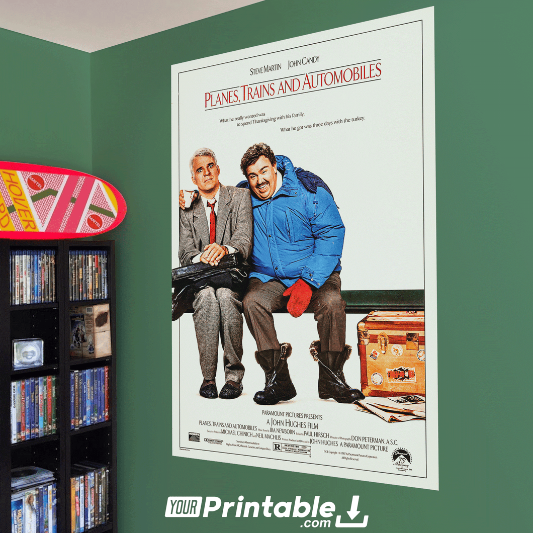 Planes, Trains and Automobiles Movie Original Poster Wall Art