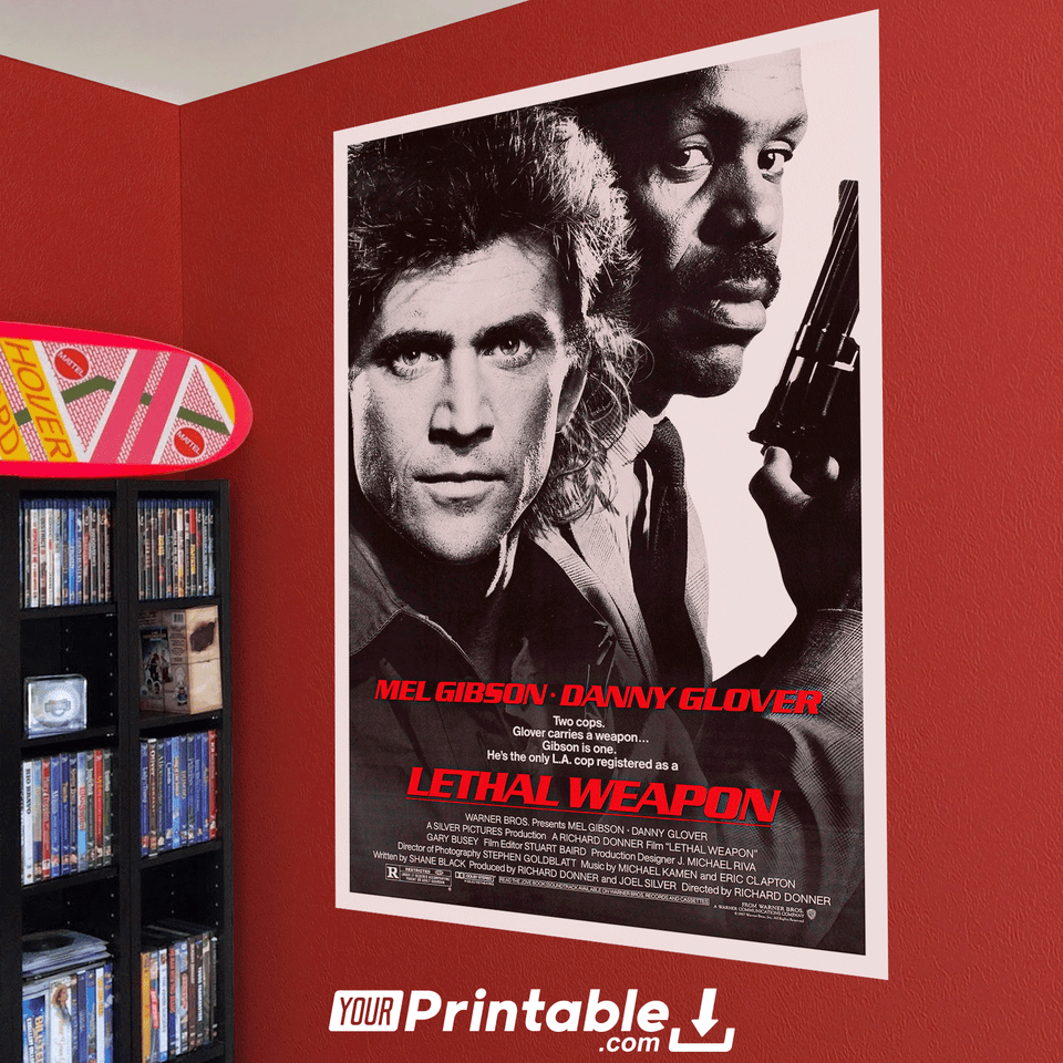 Lethal Weapon Movie Original Poster Wall Art