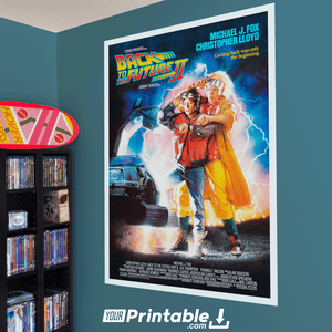 Back To The Future 2 II Movie Original Poster Wall Art