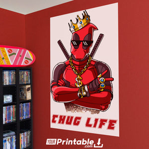 Deadpool Thug Life Original Poster Wall Art - Digital Download