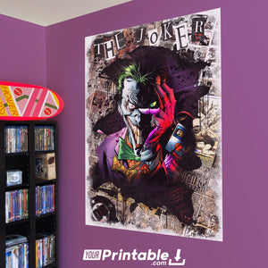 The Joker Comic Original Poster Wall Art - Instant Download