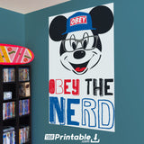 Micky Mouse Obey Original Poster Wall Art - Instant Download