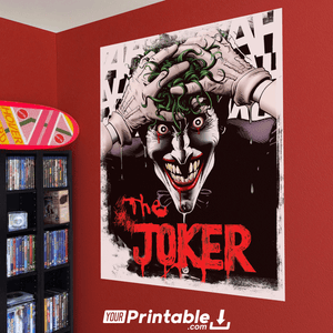 The Joker Movie Original Poster Wall Art
