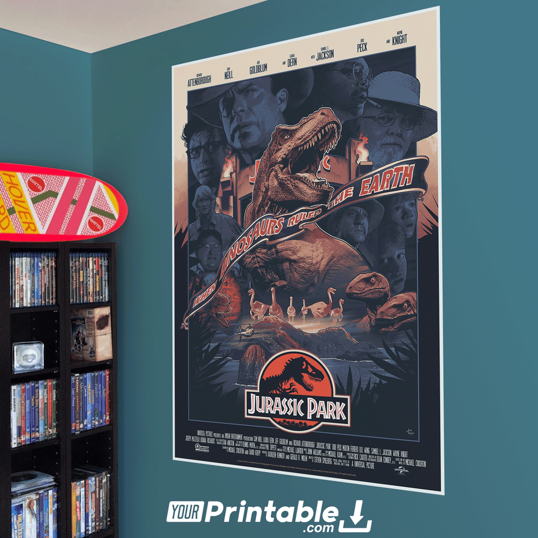 Jurassic Park Movie Original Poster Wall Art