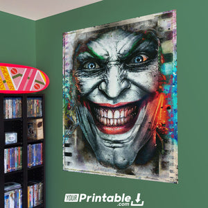 The Joker Glitch Original Poster Wall Art - Instant Download