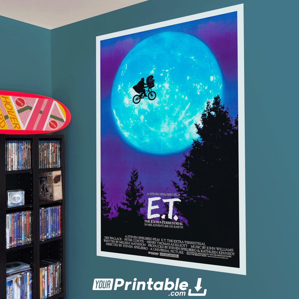 Et The Extra-Terrestrial Movie Original Poster Wall Art