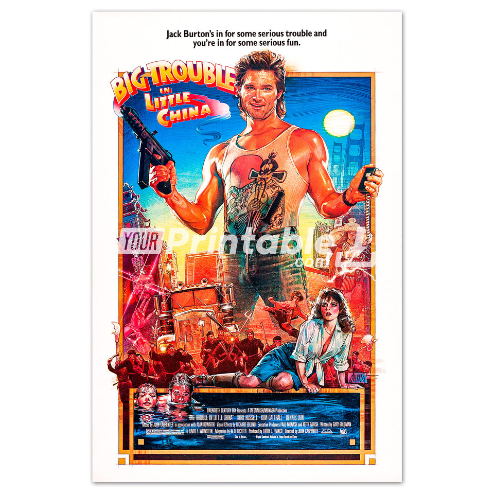 Big Trouble in Little China Movie Original Poster Wall Art