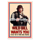 Wild Bill Wants You Movie Original Poster Wall Art