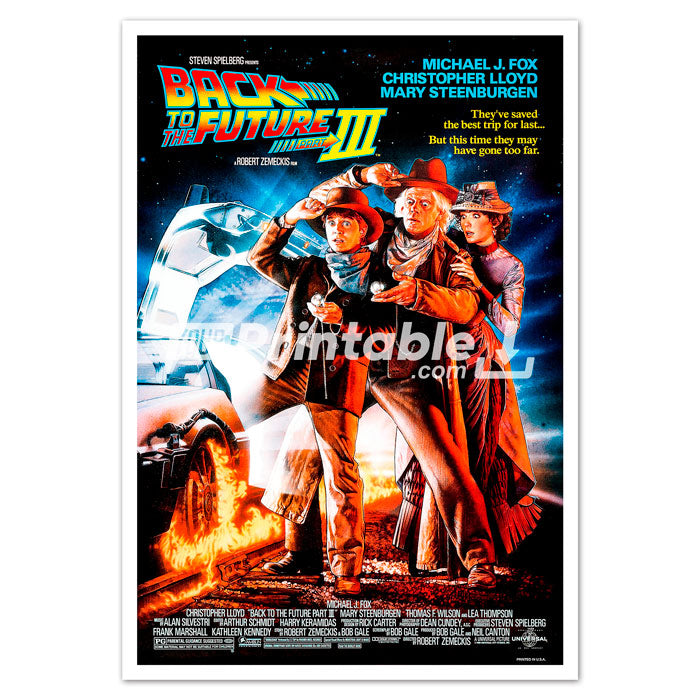 Back To The Future Part iii 3 Movie Original Poster Wall Art