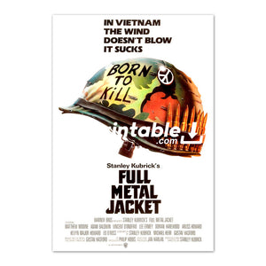 Full Metal Jacket Movie Original Poster Wall Art