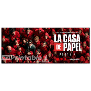 Money Heist Part 4 Horizontal Original Poster - Digital Download